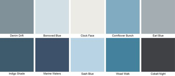 Dulux Matt Denim Drift Colours